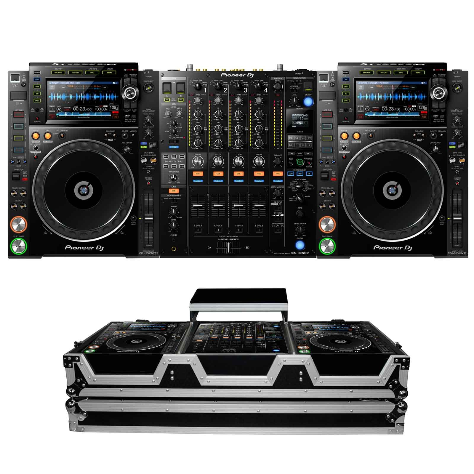 pioneer dj cdj 2000nxs2 djm 900nxs2 package 2. Black Bedroom Furniture Sets. Home Design Ideas