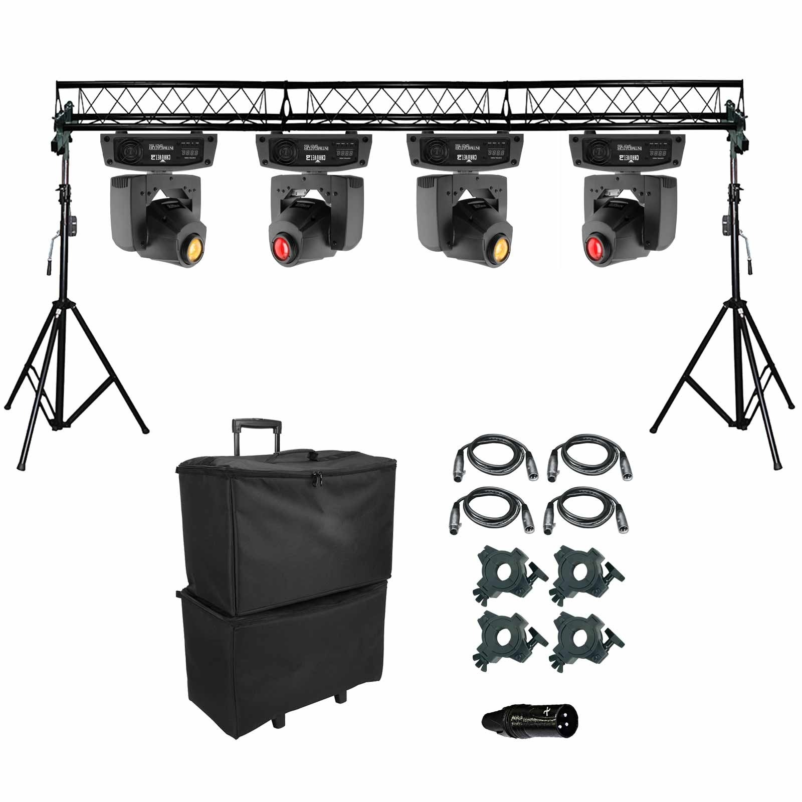 4 chauvet dj intimidator spot 155 led moving heads for Lighting packages for new homes