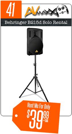 Speaker & Sound Equipment Rentals Chicago  AVMaxx