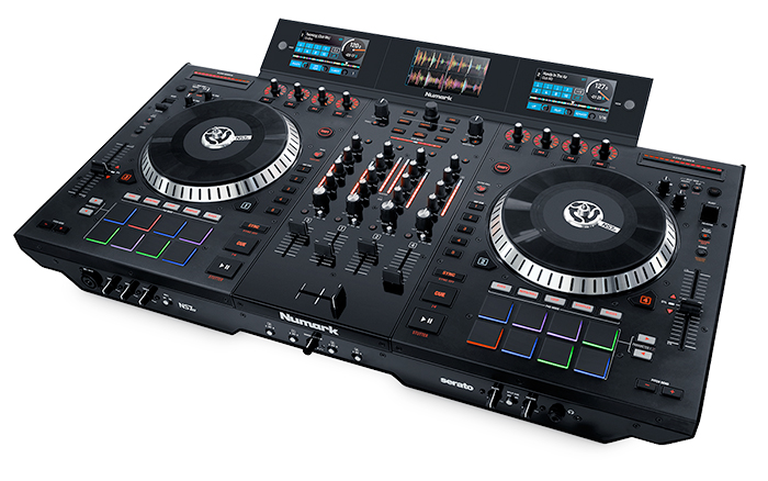 numark ns7 iii 4 channel dj controller 24 bit audio interface with 7 adjustable motorized. Black Bedroom Furniture Sets. Home Design Ideas
