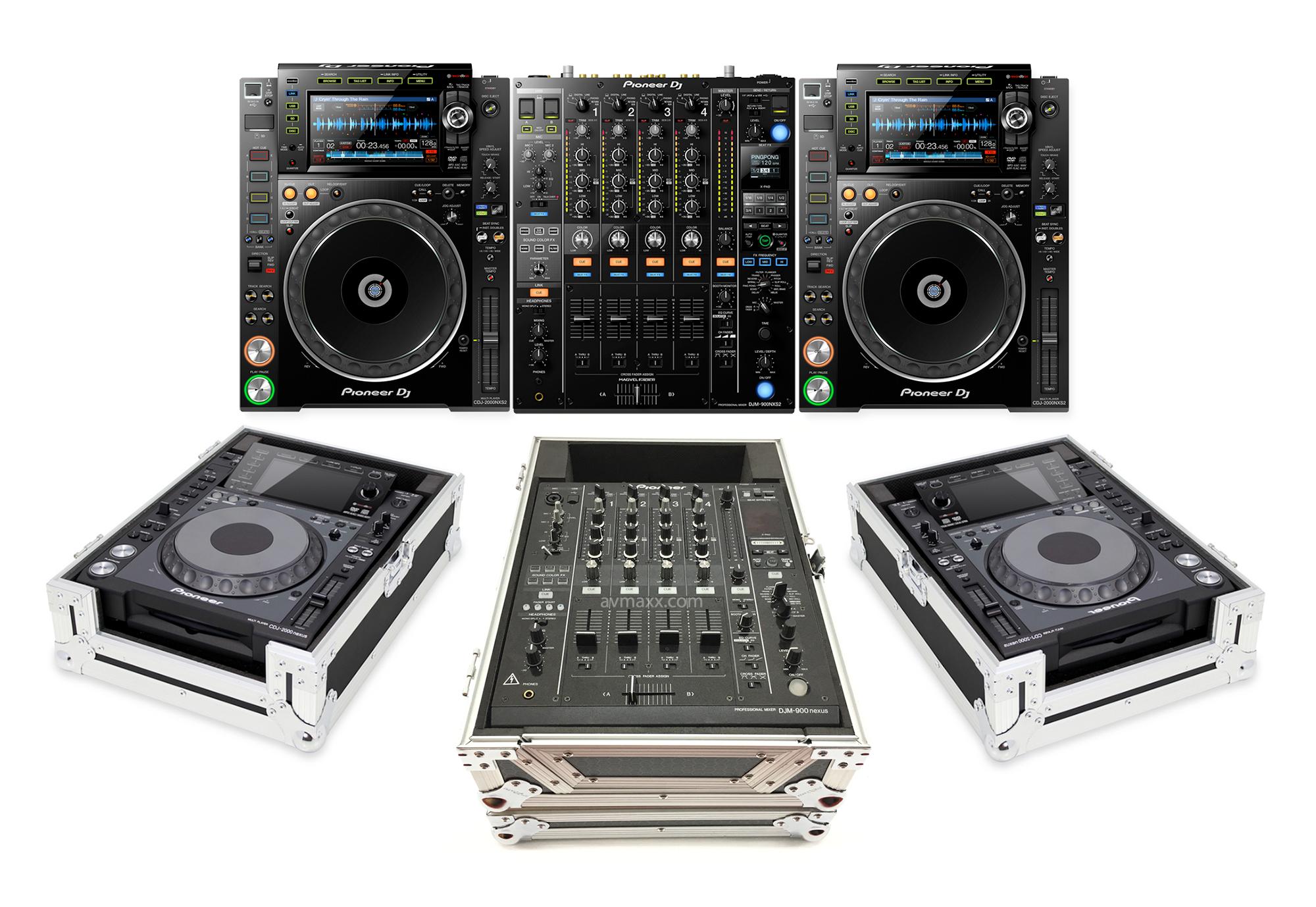 pioneer dj cdj 2000nxs2 multi players djm 900nxs2 4 channel mixer pro dj system package. Black Bedroom Furniture Sets. Home Design Ideas
