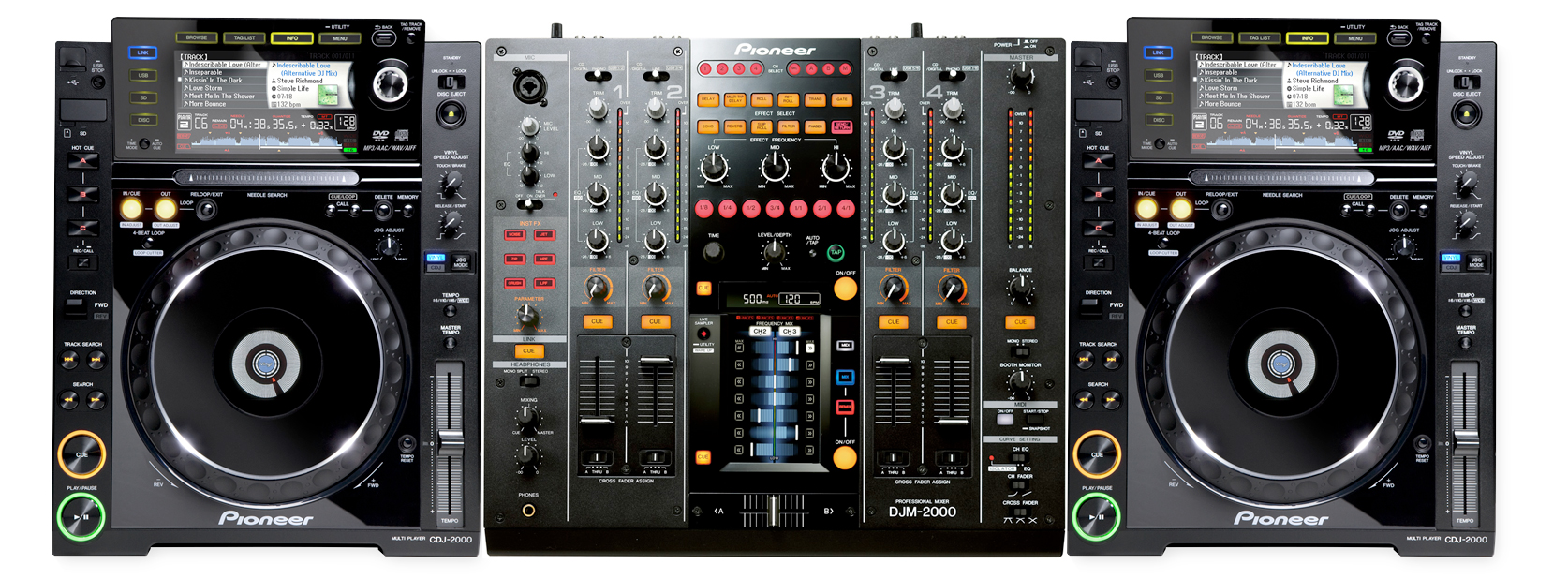 pioneer dj cdj 2000 djm 2000 pack. Black Bedroom Furniture Sets. Home Design Ideas