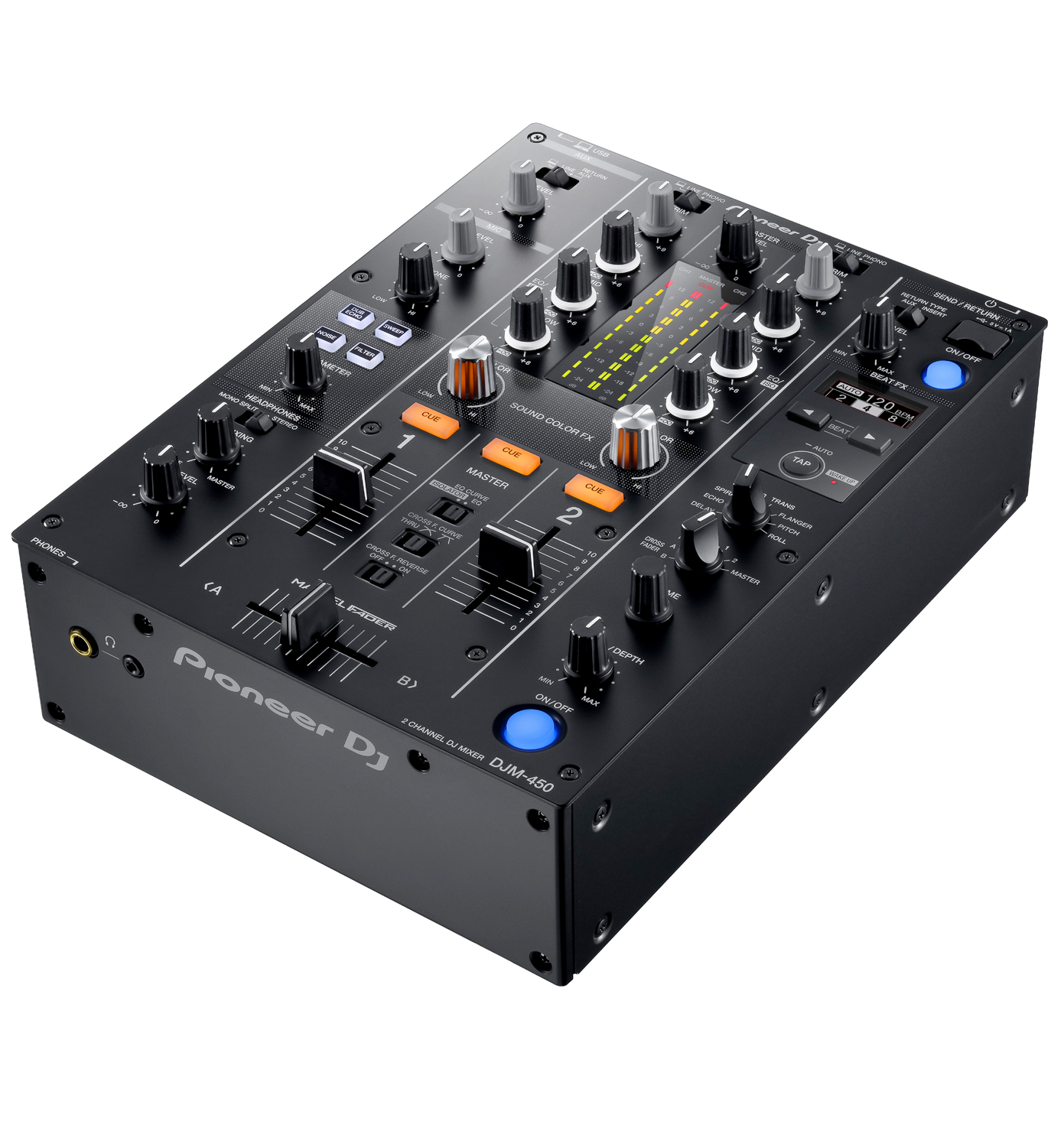 pioneer dj djm 450 2 channel dj mixer. Black Bedroom Furniture Sets. Home Design Ideas