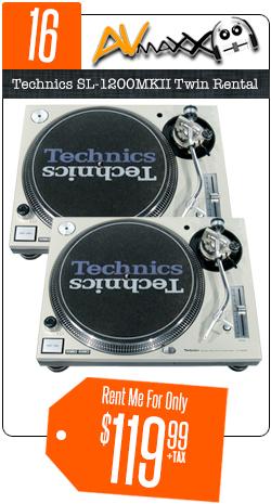 DJ Turntable Rentals Chicago   Technics 1200   PLX-1000