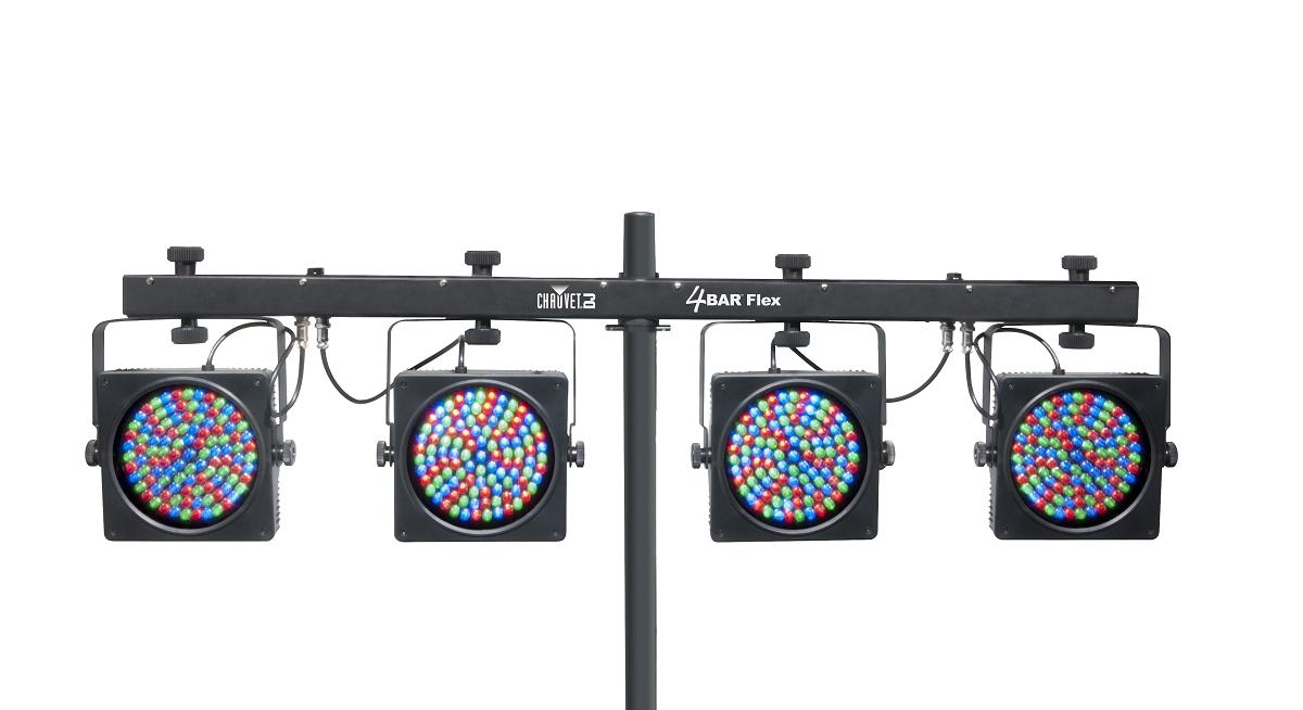 Chauvet dj 4bar flex for Lighting packages for new homes