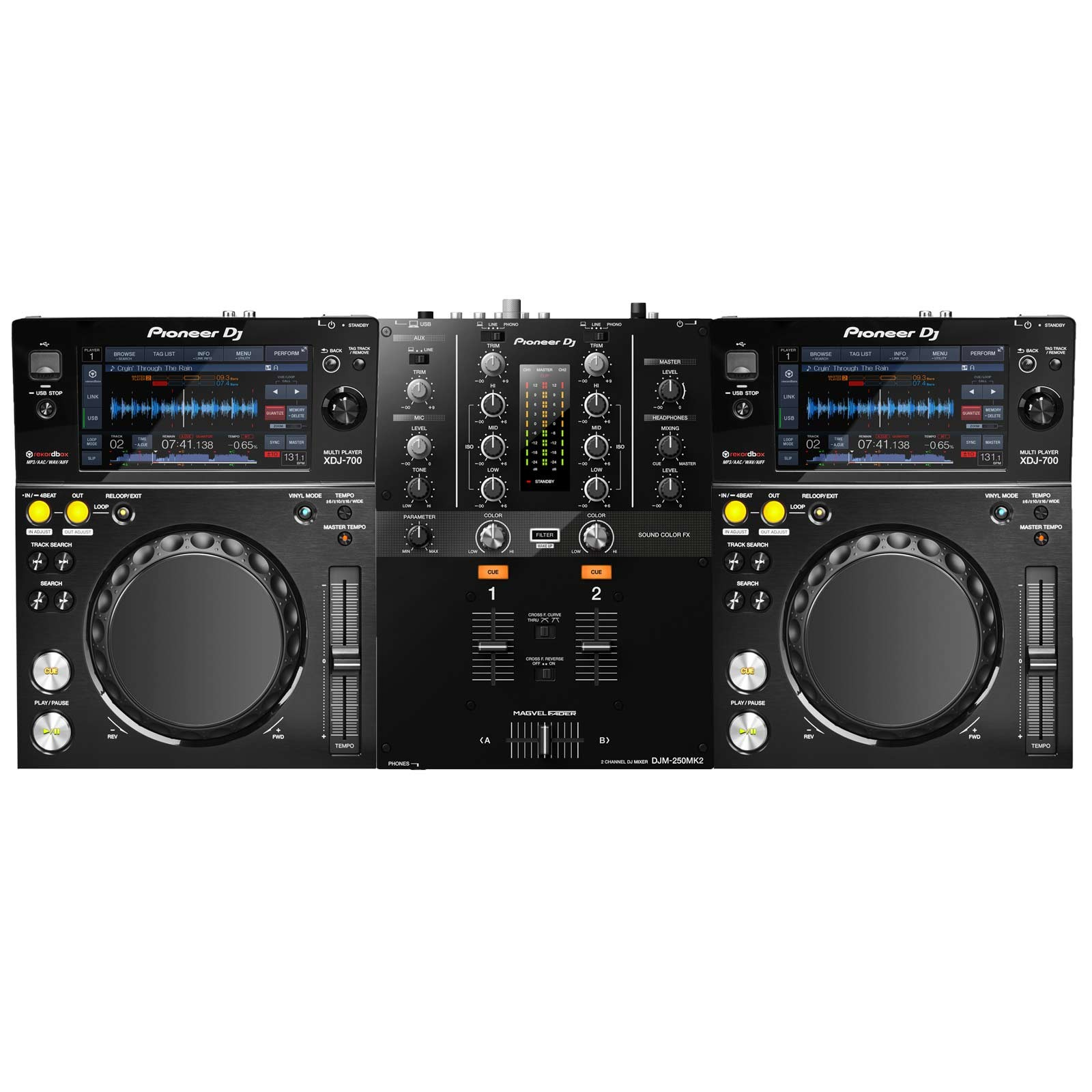 pioneer dj djm 250mk2 xdj 700 package. Black Bedroom Furniture Sets. Home Design Ideas