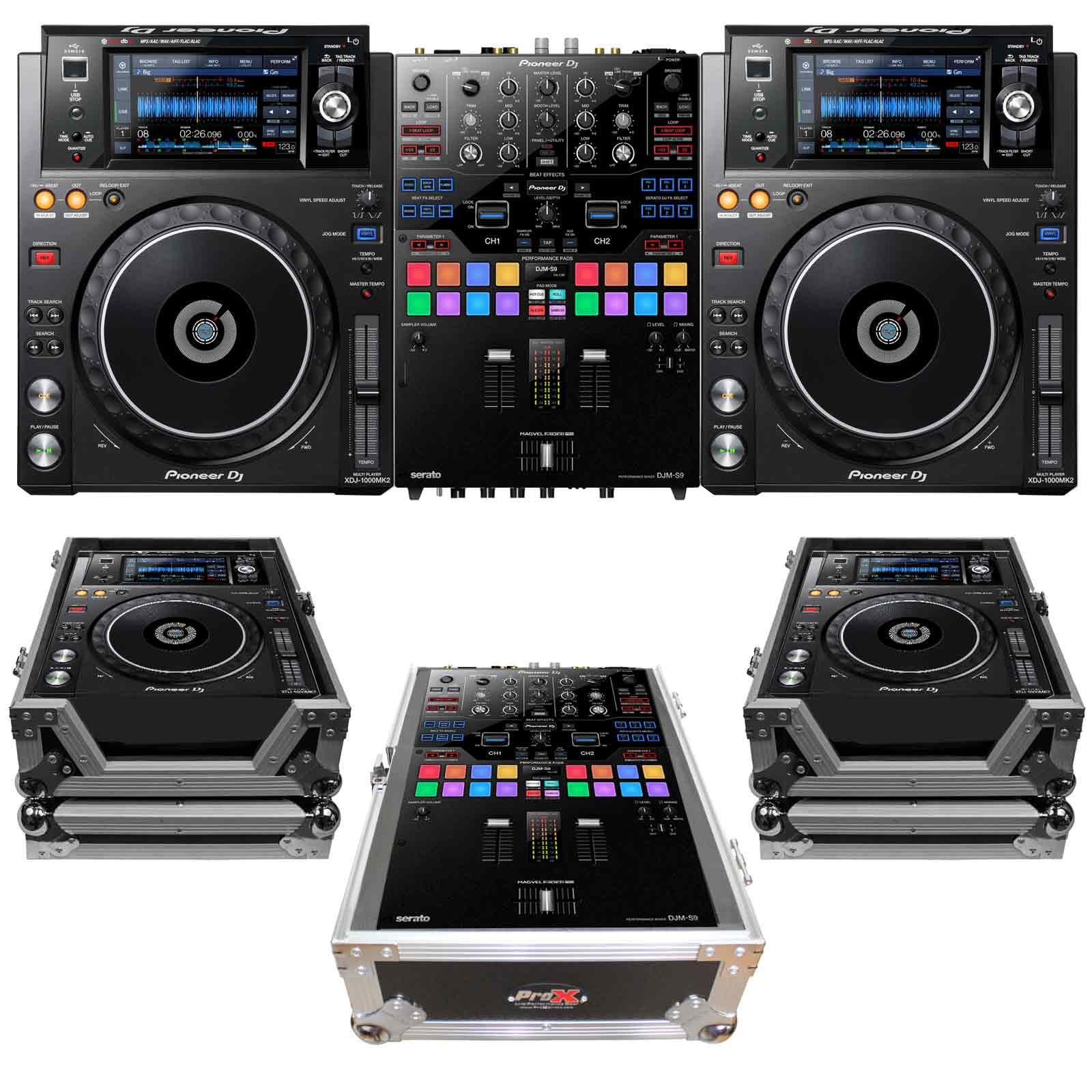 pioneer dj djm s9 xdj 1000mk2 package. Black Bedroom Furniture Sets. Home Design Ideas