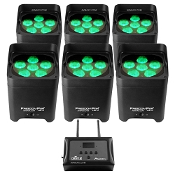 Chauvet DJ Freedom Par Tri-6 FlareCON Air 6-Pack