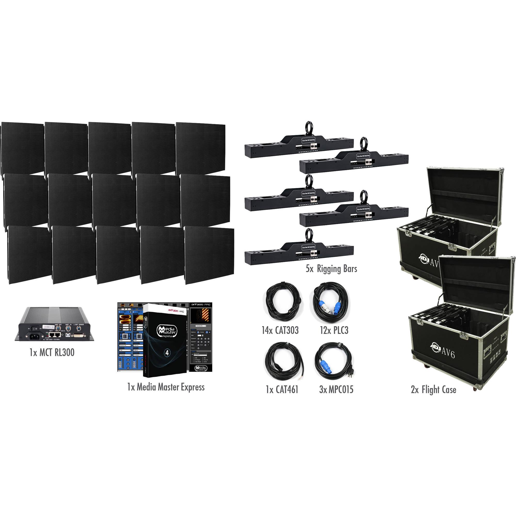 ADJ AV6X 5X3   AV6X LED Video Wall System Kit, 15 Panels