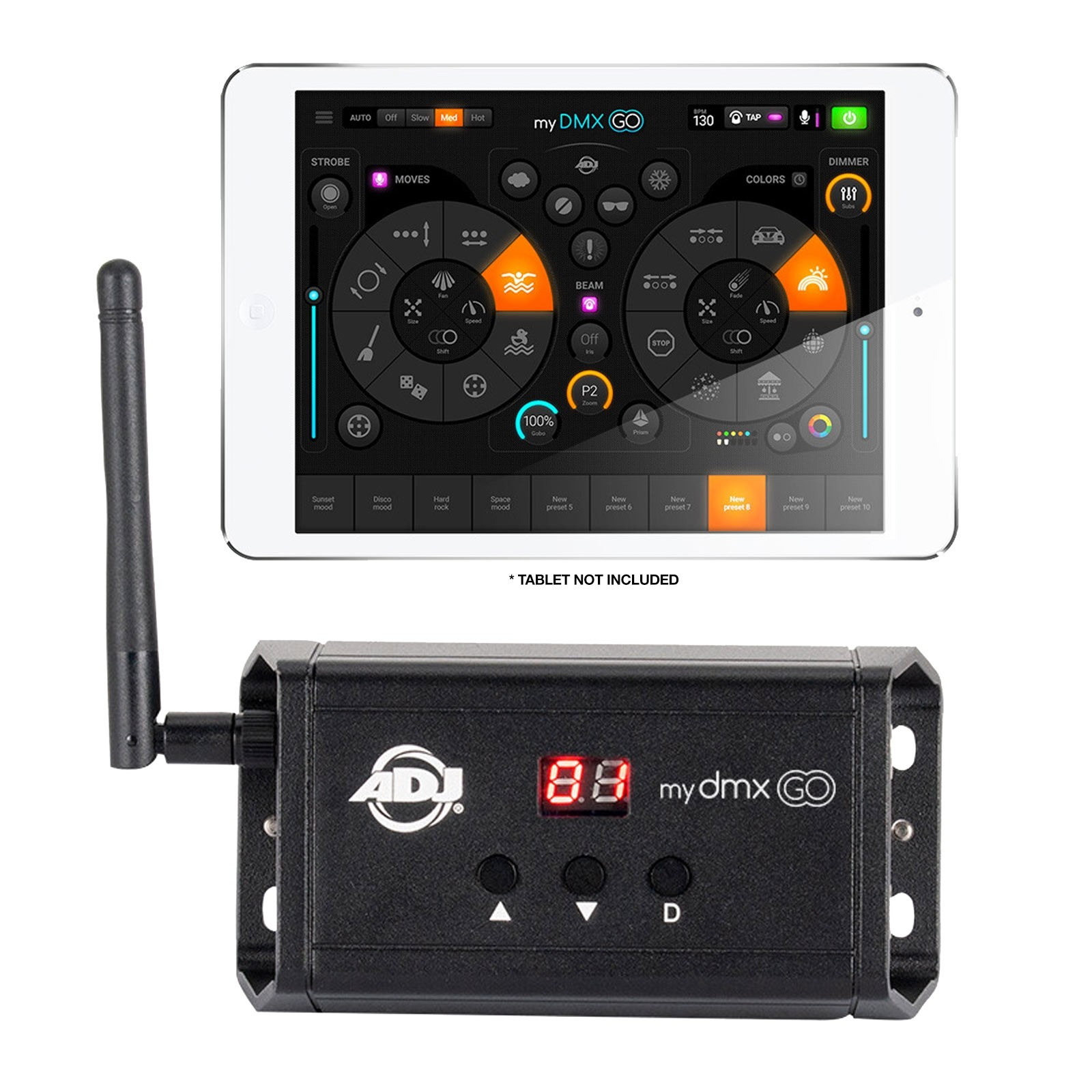 Adj Mydmx Go Wireless Lighting Control App For Ipad Amp Tablet