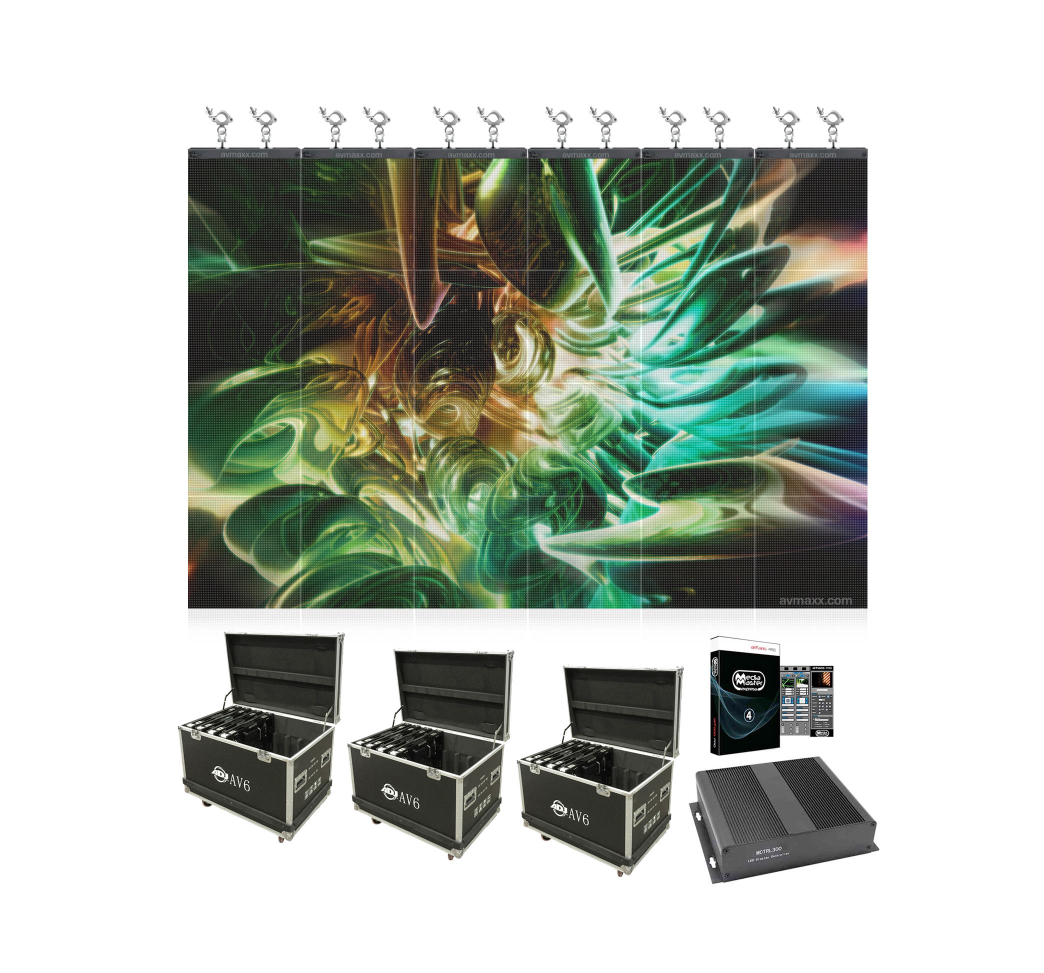 ADJ AV6 24 Panel Pack 6mm Pixel Pitch LED Wall Panel Sale