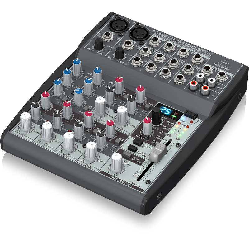 behringer xenyx 1002fx 10 channel mixer with effect processor. Black Bedroom Furniture Sets. Home Design Ideas