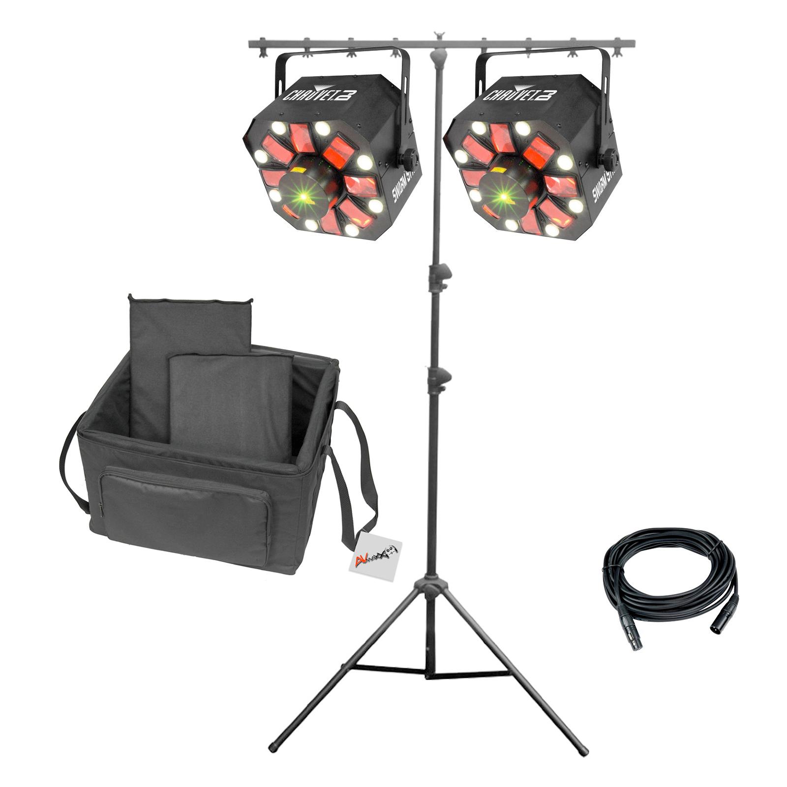 chauvet dj swarm 5 fx 3 in 1 led effect light duo package. Black Bedroom Furniture Sets. Home Design Ideas