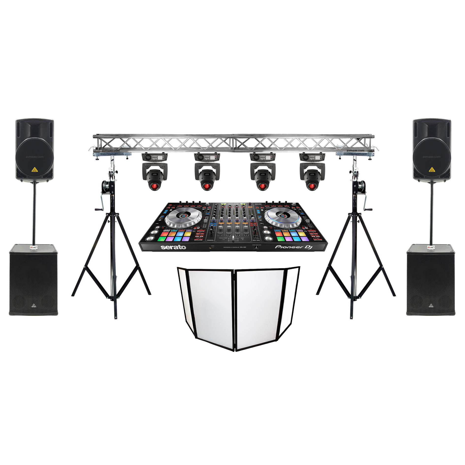 Diy Led Uplighting Rental Atlanta: Outdoor DJ Setup Mirrorballs T Truss Construction White DJ