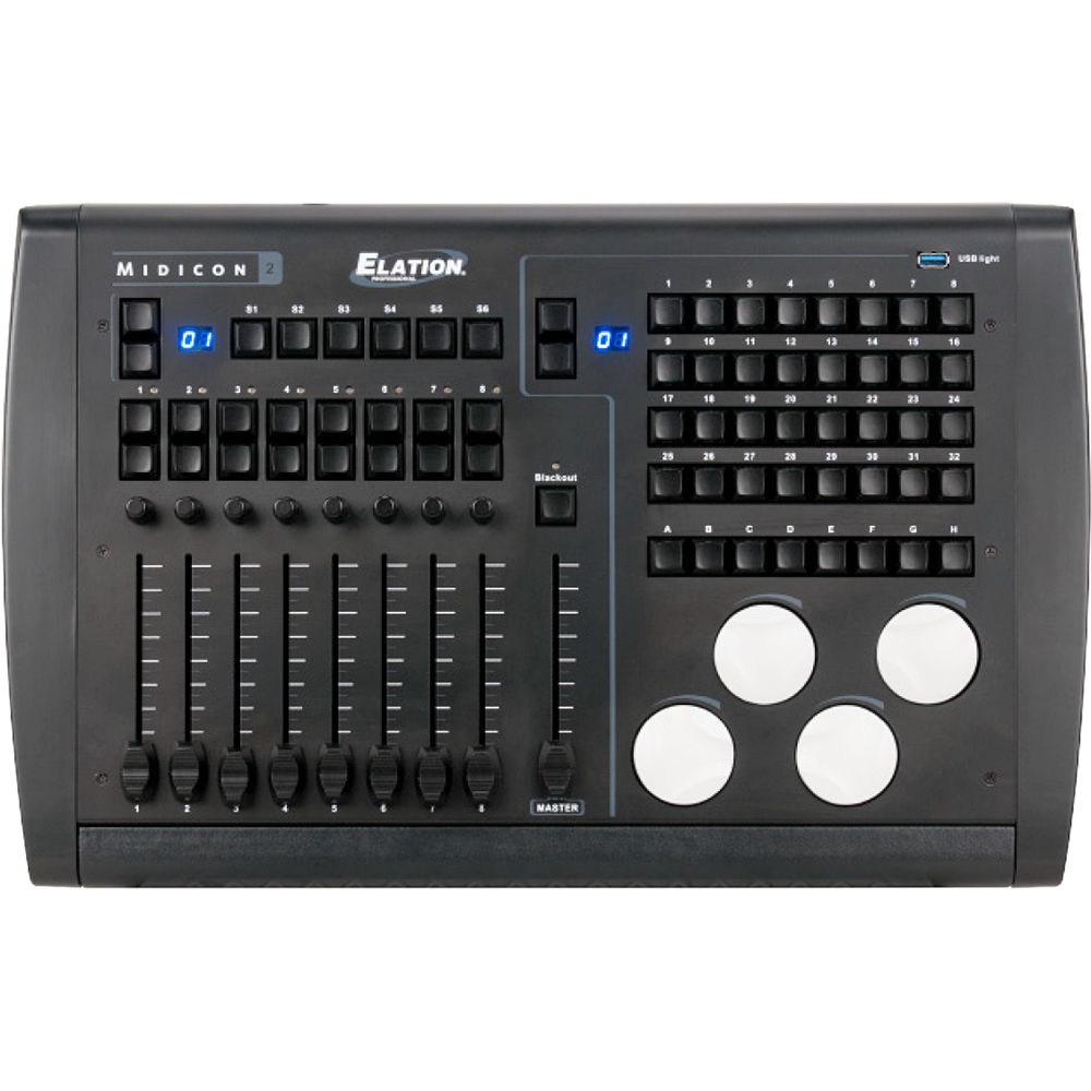 Elation MIDICON-2 | USB powered Midi controller for DMX Software