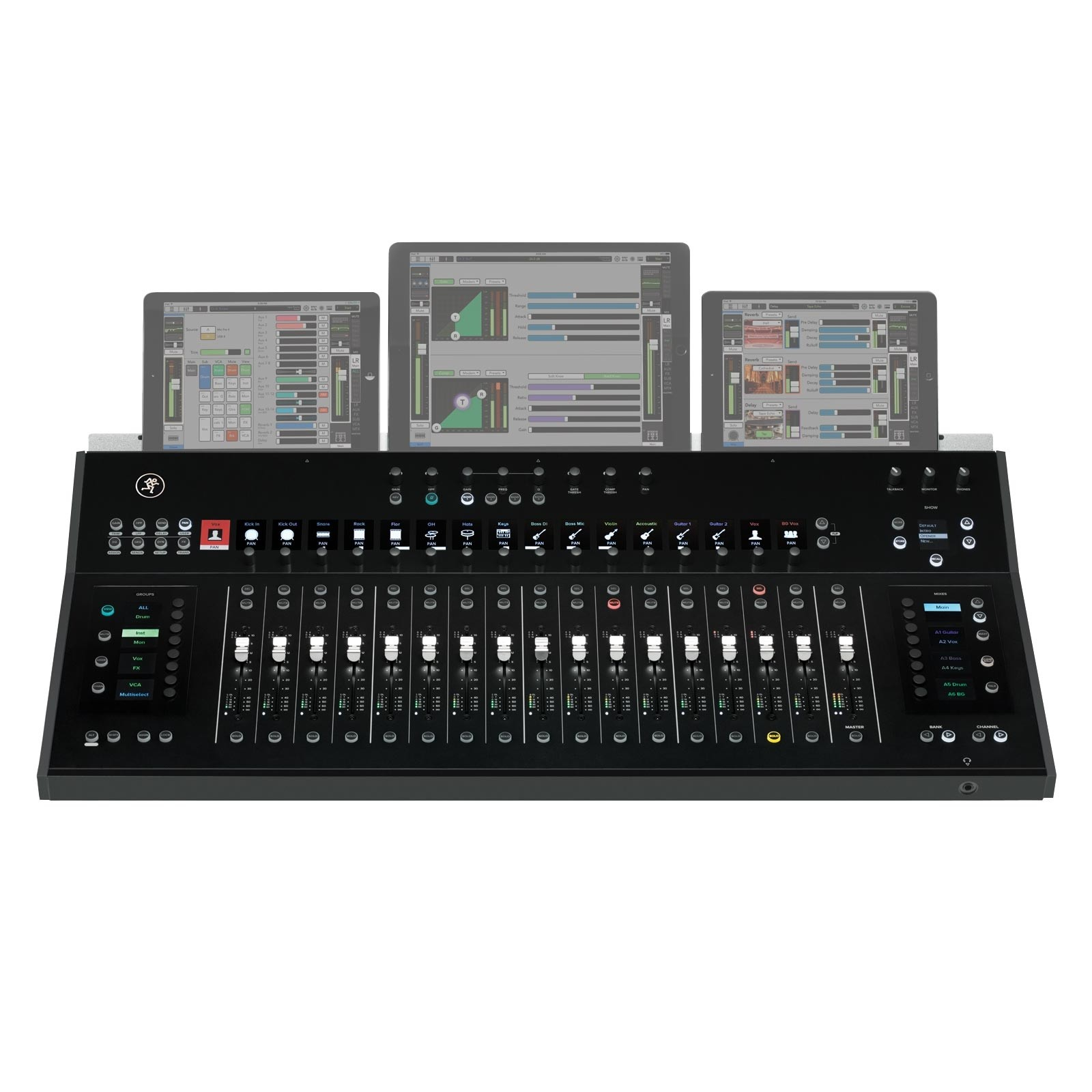 mackie axis dc16 digital mixing system control surface. Black Bedroom Furniture Sets. Home Design Ideas