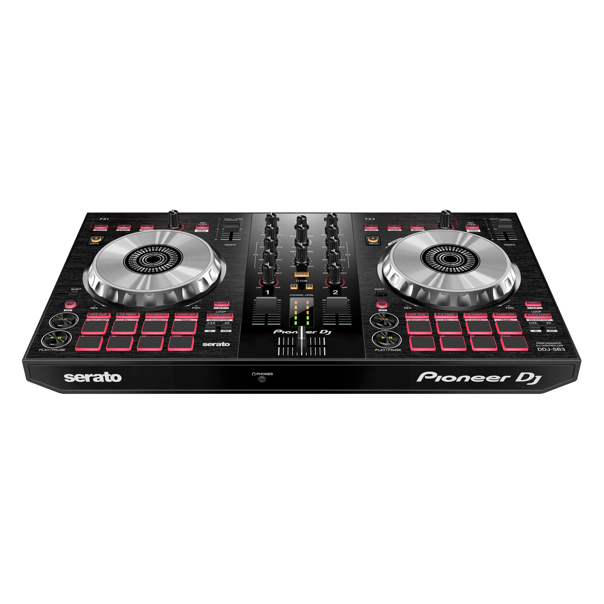 pioneer dj ddj sb3 the perfect 2 channel dj controller for serato dj lite starter dj. Black Bedroom Furniture Sets. Home Design Ideas