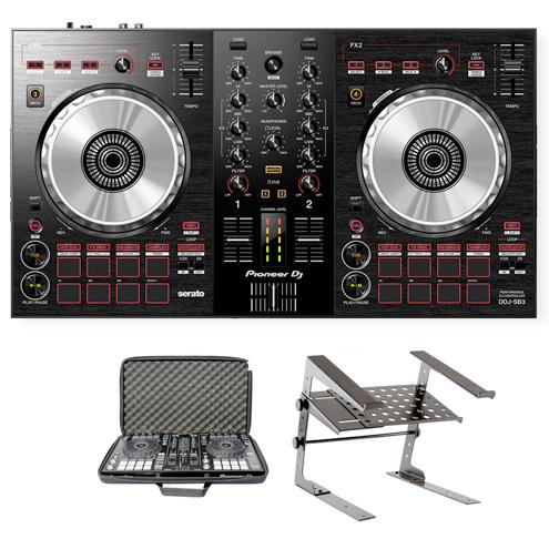 Pioneer DJ DDJ-SB3 Package Deal | Starter DJ Controller with Serato Lite