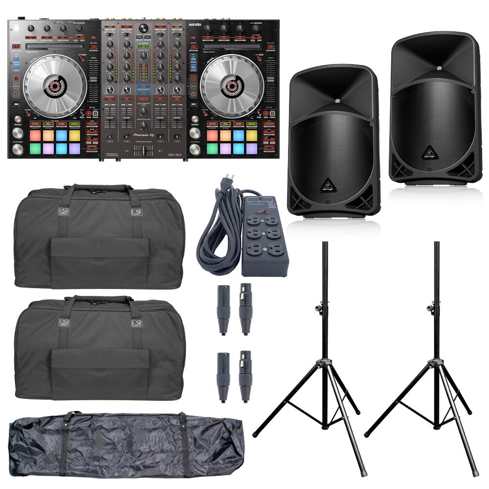 Pioneer DJ DDJ-SX3 and Behringer B12x Package Sale Price