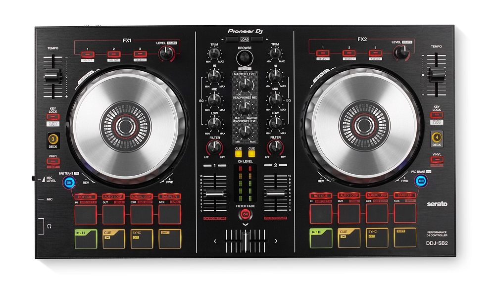 pioneer dj ddj sb2 serato intro dj controller starter dj controller cheap dj controller dj. Black Bedroom Furniture Sets. Home Design Ideas