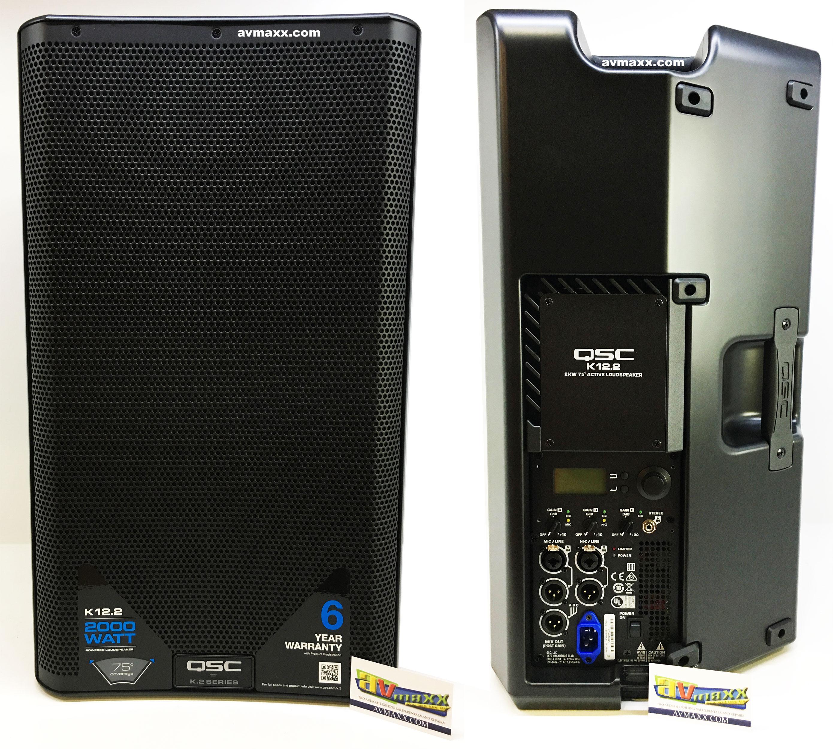 Qsc K12 Review : qsc k12 2 package deal 12 2000w active speaker bundle ~ Vivirlamusica.com Haus und Dekorationen