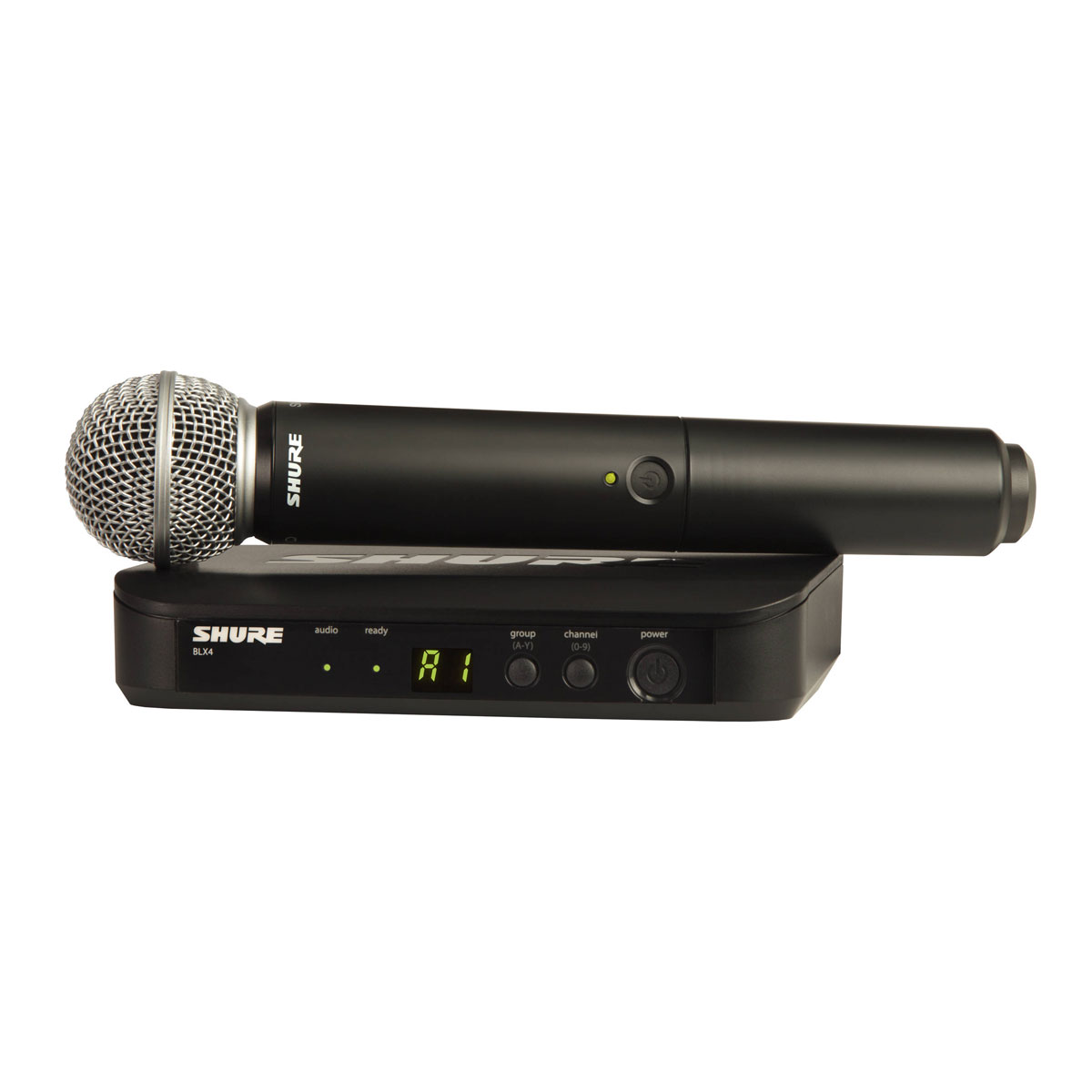 shure blx24 sm58 wireless handheld microphone system. Black Bedroom Furniture Sets. Home Design Ideas