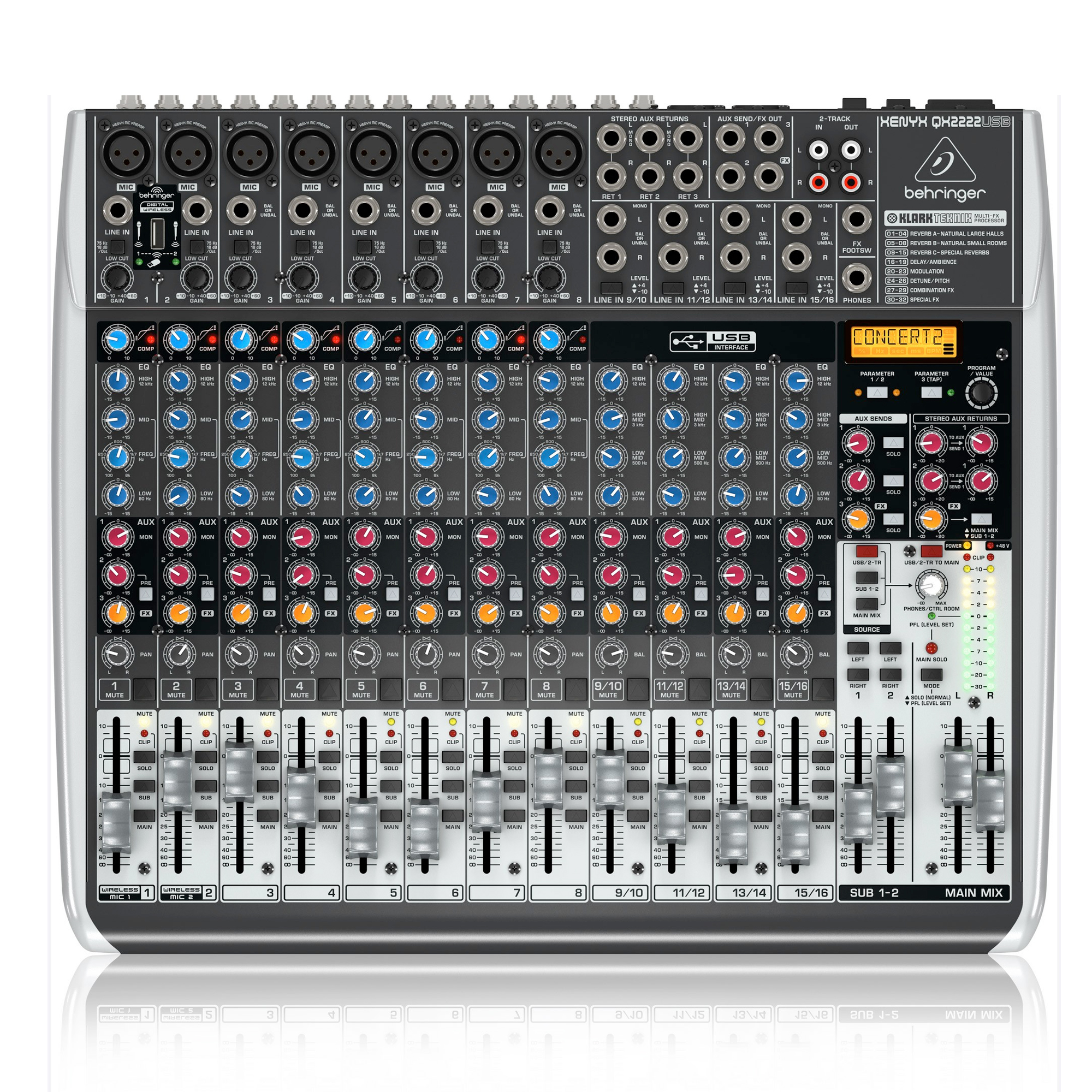 behringer xenyx qx2222usb analog mixer. Black Bedroom Furniture Sets. Home Design Ideas