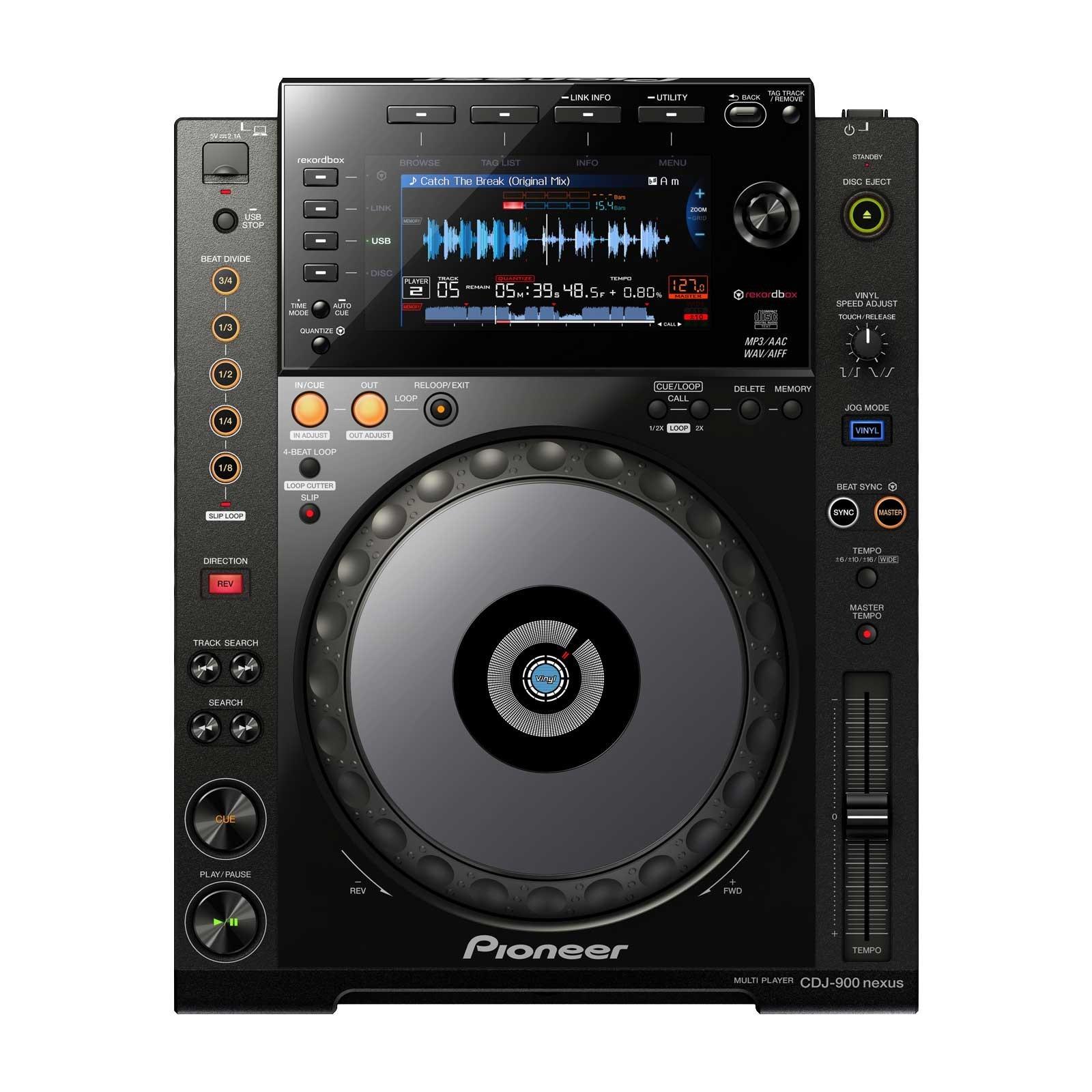 pioneer dj cdj 900nxs digital dj cd player with wi fi playback chicago dj shop. Black Bedroom Furniture Sets. Home Design Ideas