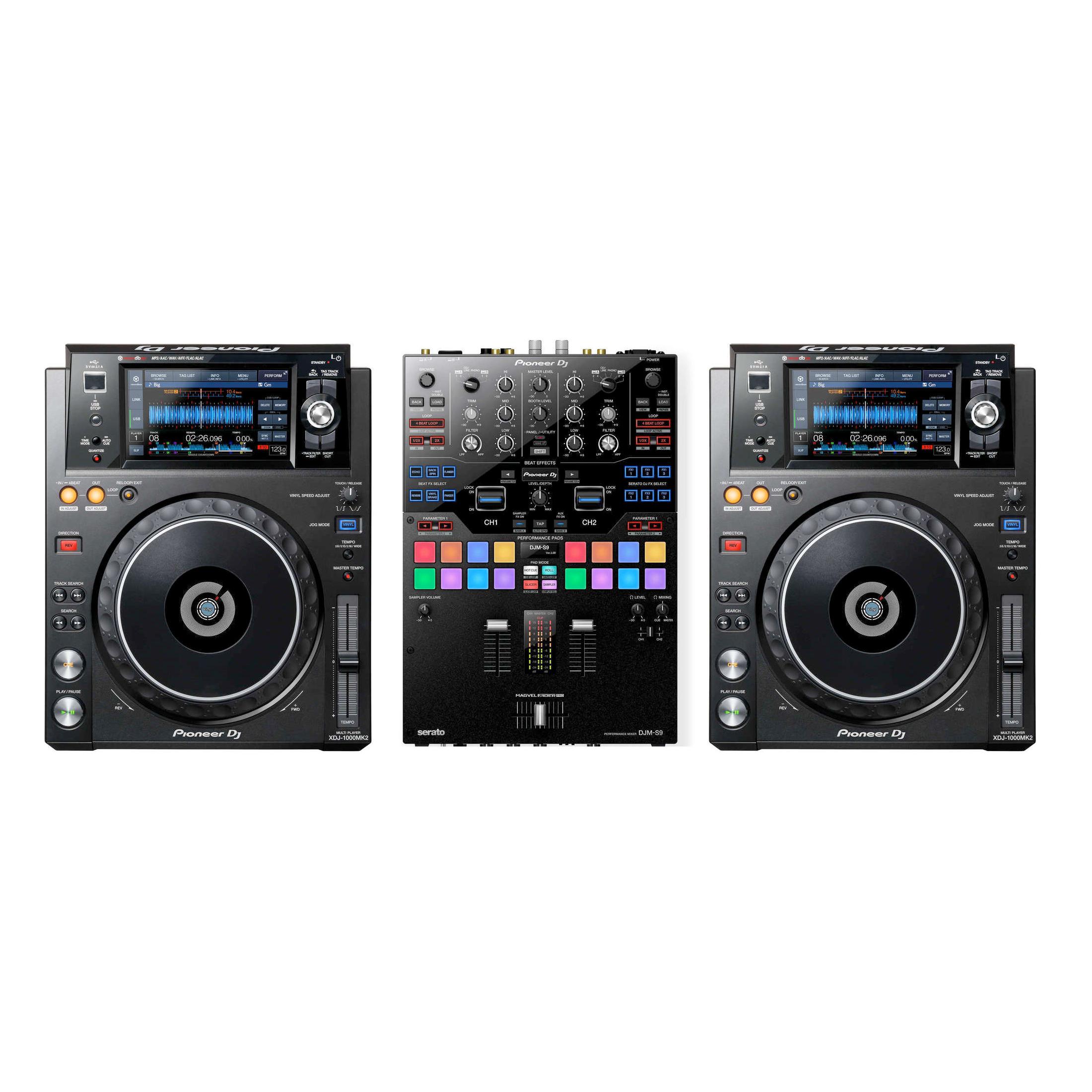 Pioneer DJ XDJ-1000MK2 & DJM-S9 Pack | Media Player & Mixer