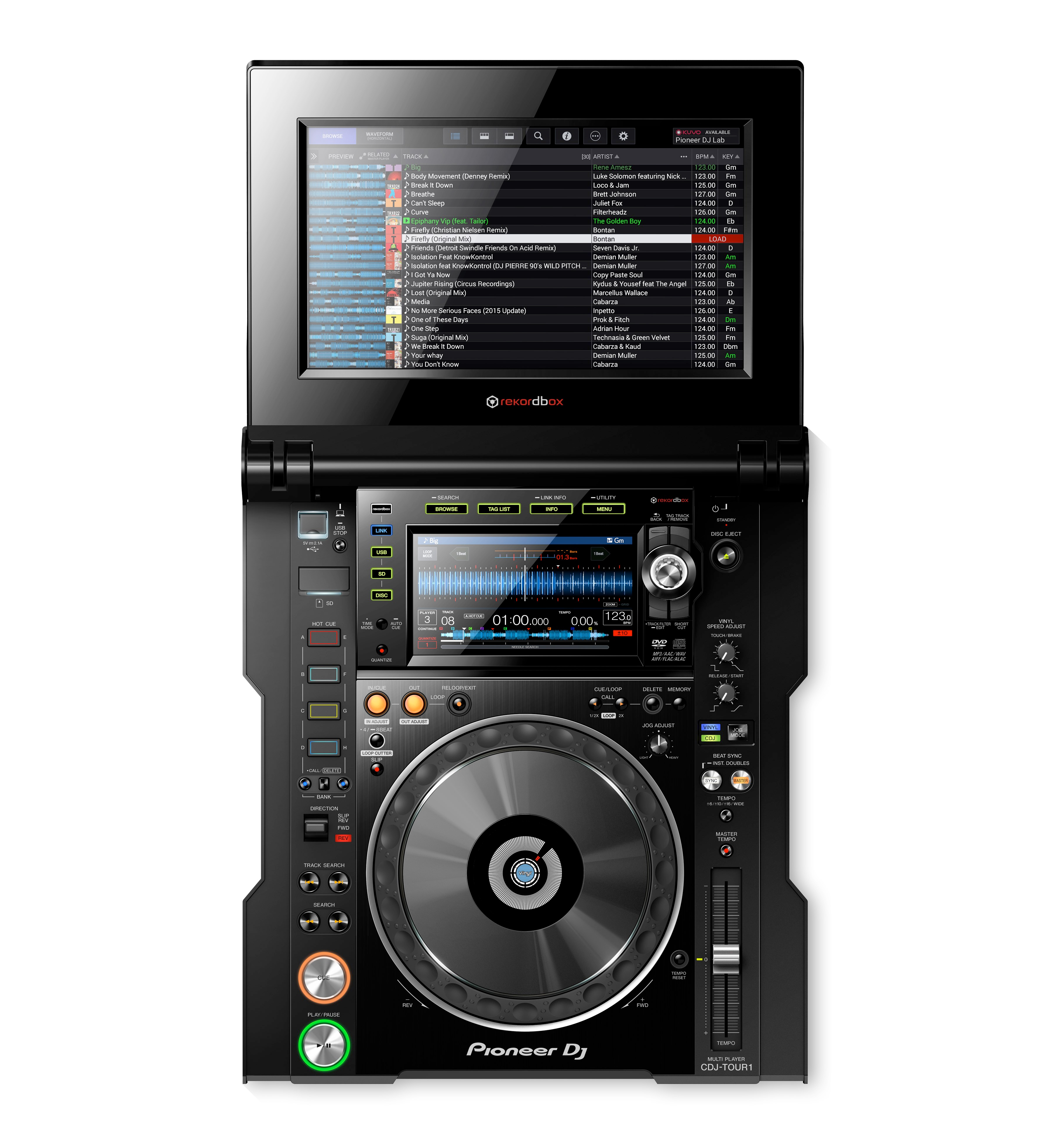 pioneer dj cdj tour1 multi player with fold out touch screen chicago dj store. Black Bedroom Furniture Sets. Home Design Ideas