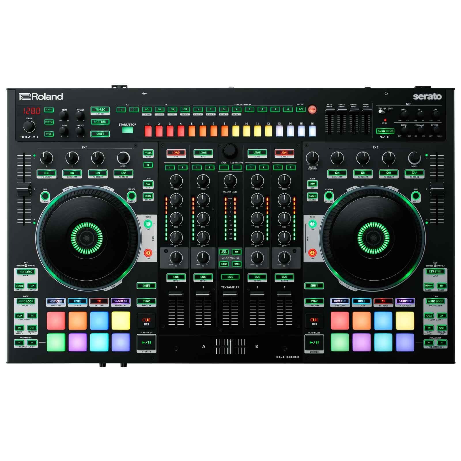 Roland Dj 808 4 Channel Mixer Amp Dj Controller For Sale