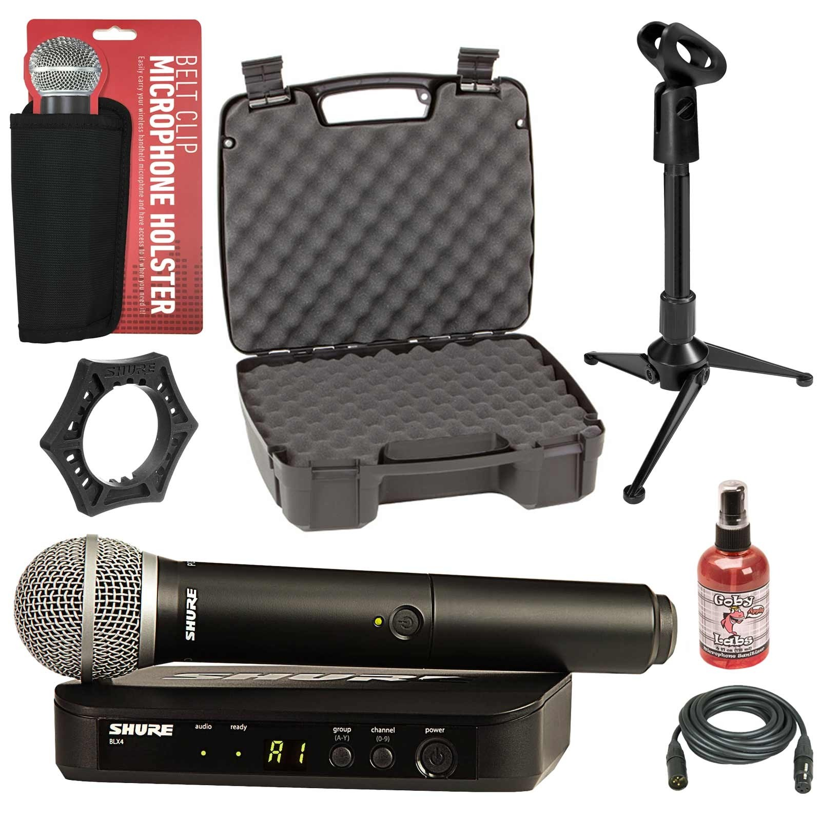 shure blx24 pg58 wireless microphone system bundle. Black Bedroom Furniture Sets. Home Design Ideas
