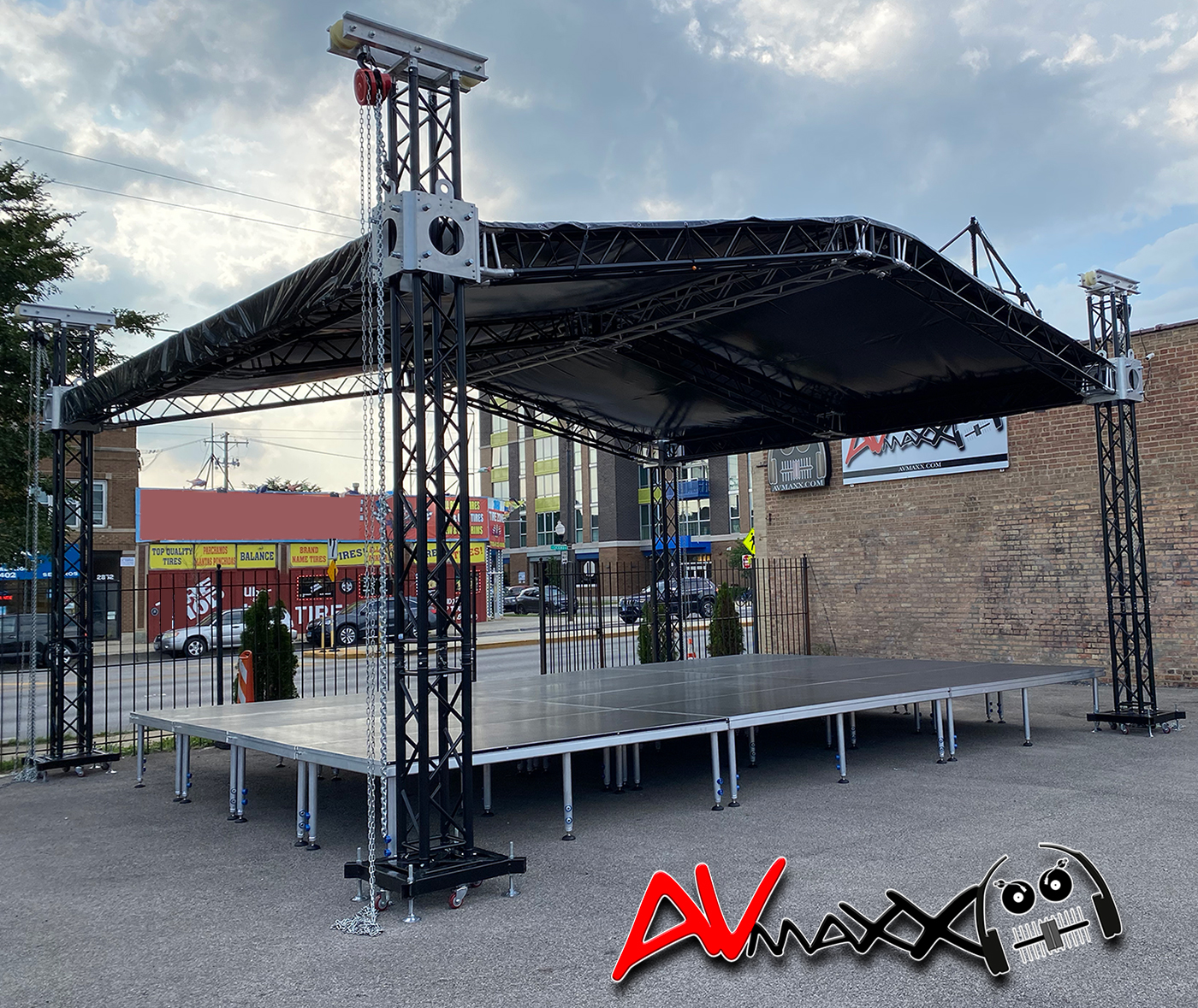 Portable Stage Platform Display at AVMaxx