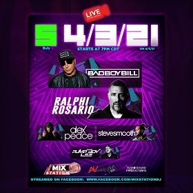 Bad Boy Bill & Ralphi Rosario's Live Stream In Person Tickets!