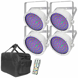 (4) Chauvet DJ EZpar 64 RGBA in White Bundle