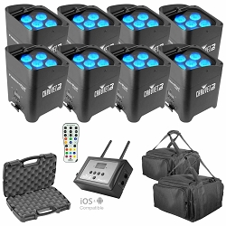 (8) Chauvet DJ Freedom Par Tri-6 & FlareCON Air Package