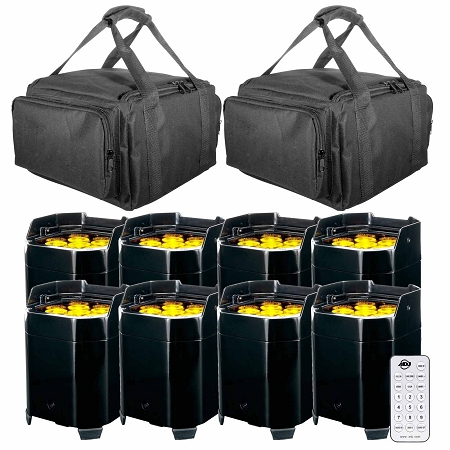ADJ Element QA Battery Powered LED Pars with Carry Bag Package 2