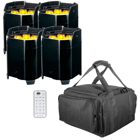 ADJ Element QA Battery Powered LED Pars with Carry Bag Package
