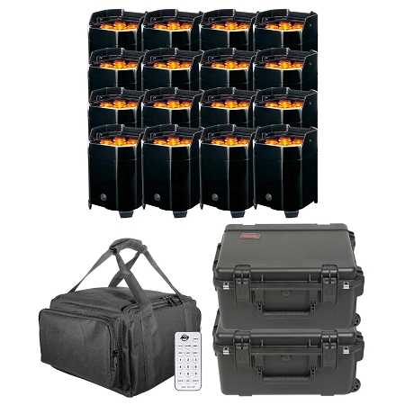 ADJ Element QA Battery Powered LED Pars with Carry Case Package 3