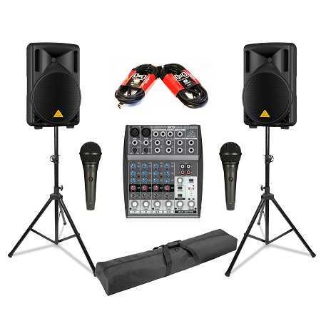 Behringer B215D Mobile PA Package Deal