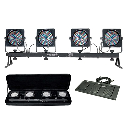 Chauvet DJ 4BAR Flex Complete LED Slimpar Stage Lighting System
