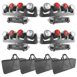 Chauvet DJ Intimidator Wave 360 IRC Quad Pack Pack