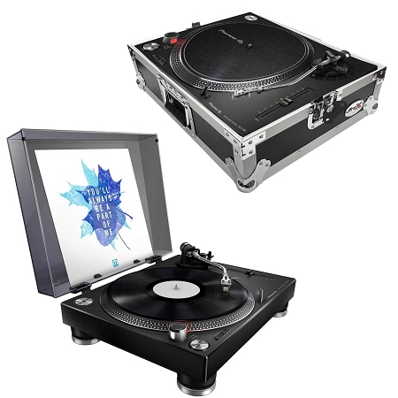 Pioneer DJ PLX-500 with ProX Turntable Case Package