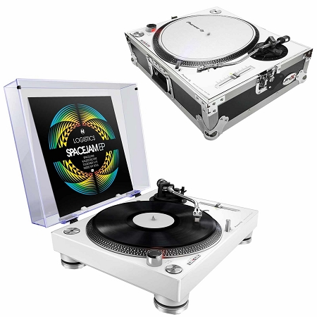 Pioneer DJ PLX-500 (White) with ProX Turntable Case Package