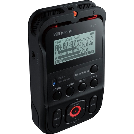 Roland R-07 Portable Audio Recorder - Black