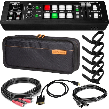 Roland V-1HD & Bag w/ Cables & Ties