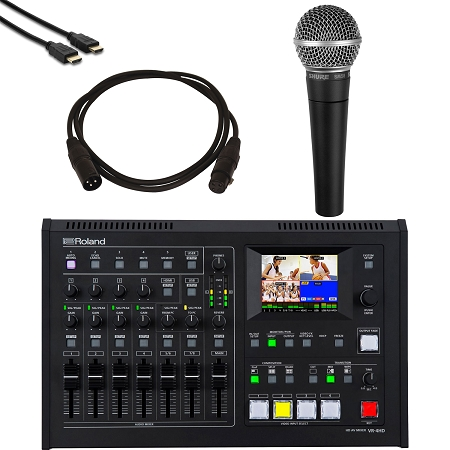 Roland VR4-HD Mixer with SM58 Mic & Cables