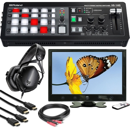 Roland XS-1HD w/ Monitor, Headphones & Cables