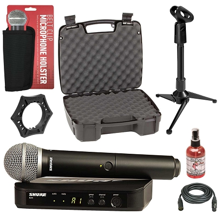 Shure BLX24/PG58 Wireless Microphone System Bundle