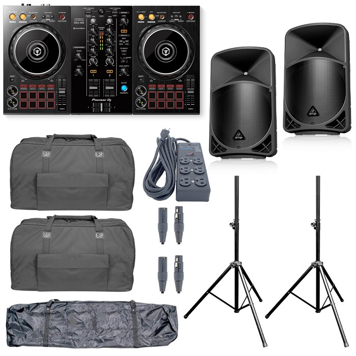 Pioneer DJ DDJ-400 and Behringer B12x Package